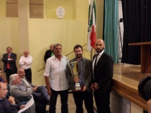 Giulio Peverelli e Roberto Melchiorre ritirano la Coppa Disciplina