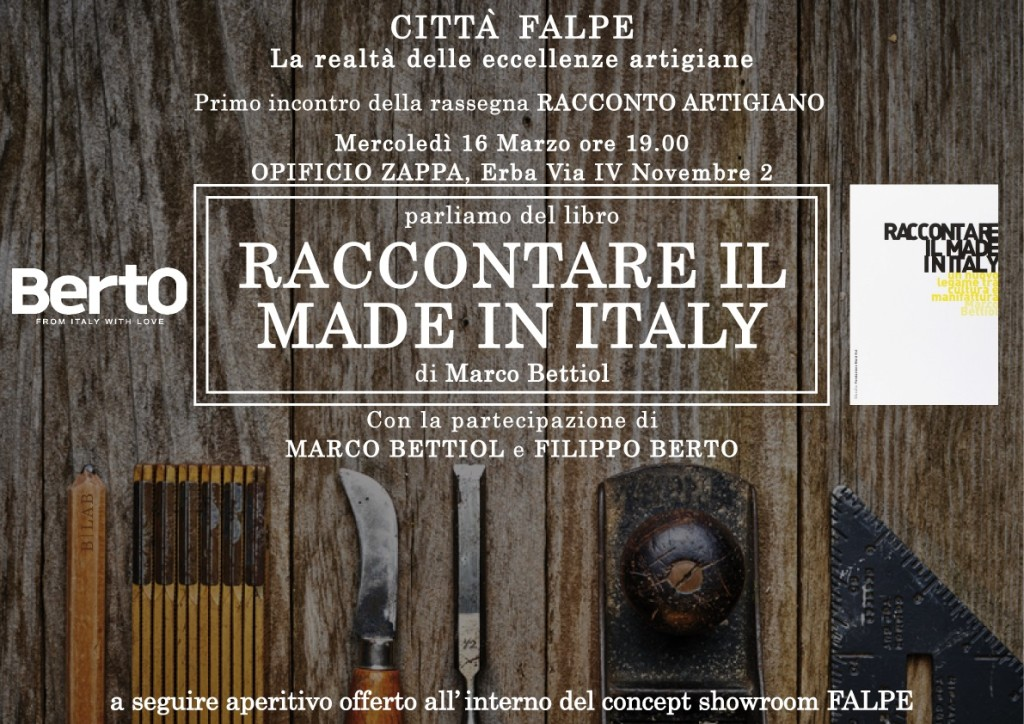 """Raccontare il Made in Italy """