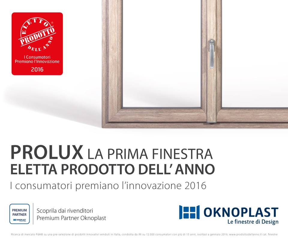 Prolux Finestra dell'anno 2016