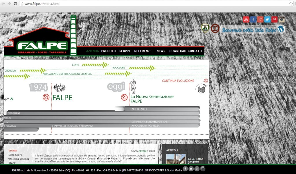 Storia sito falpe 2 2012-2016