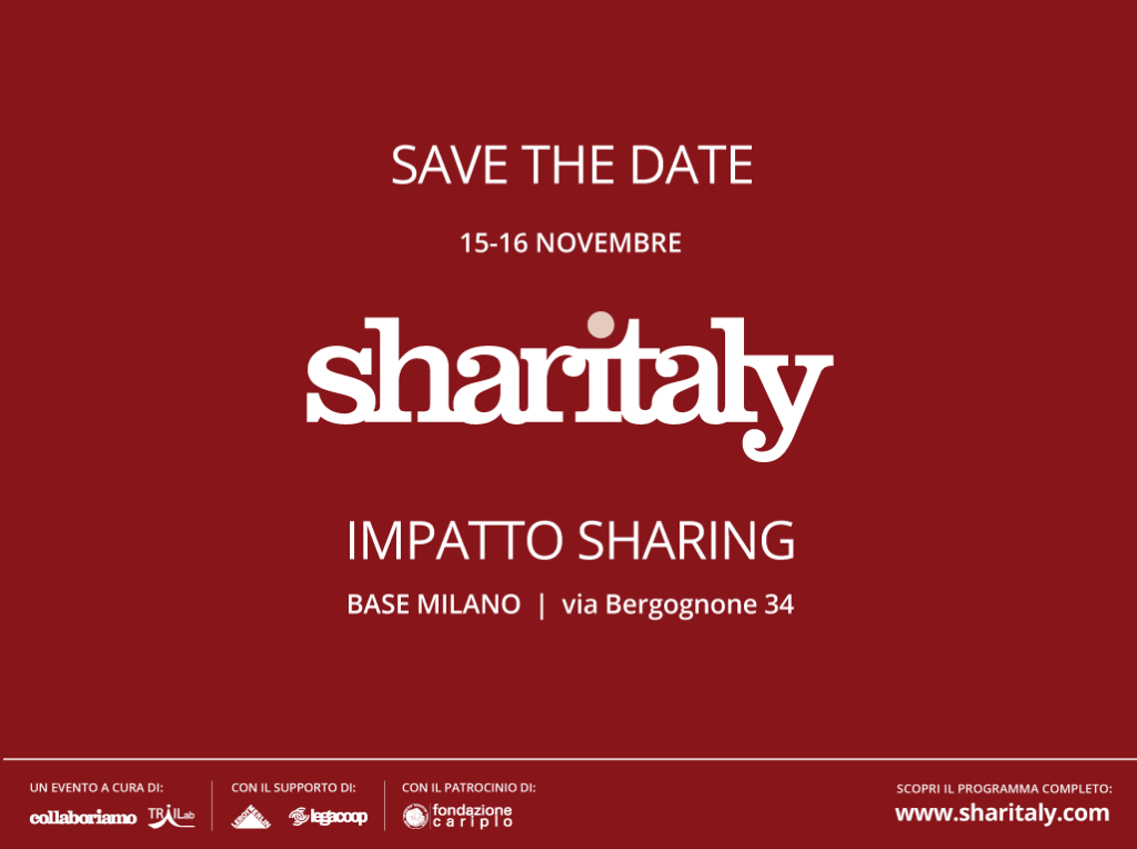 save-the-date-Sharitaly 15-16 Novembre a Base Milano