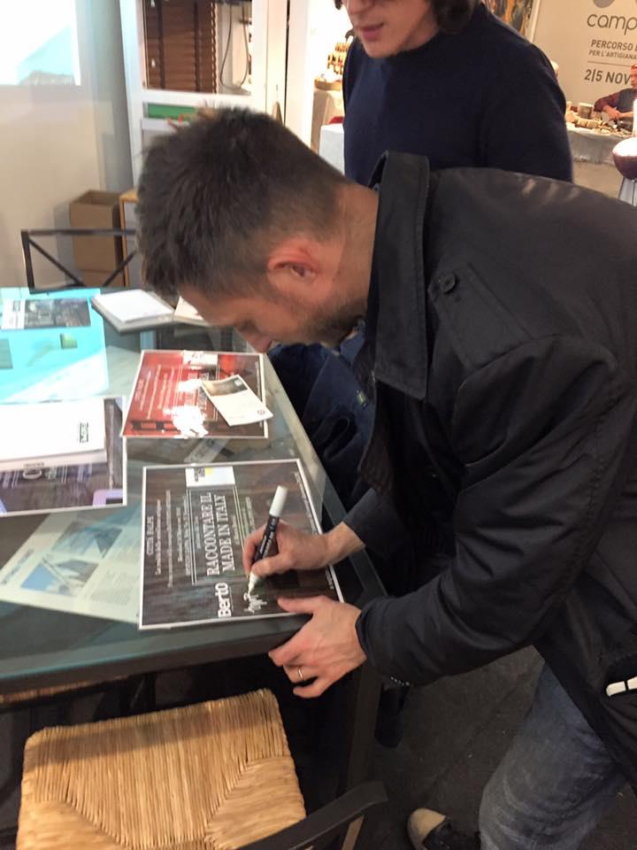 Filippo Berto firma il Racconto Artigiano Falpe